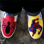 Custom made Spider-Man vans. Courtesy of a wonderful wife.